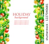 christmas holiday frame  hand... | Shutterstock . vector #1227040681
