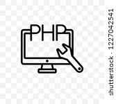 php vector linear icon isolated ... | Shutterstock .eps vector #1227042541