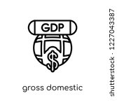 gross domestic product  gdp ... | Shutterstock .eps vector #1227043387