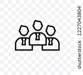politicians vector linear icon... | Shutterstock .eps vector #1227043804