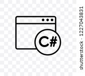c sharp vector linear icon... | Shutterstock .eps vector #1227043831