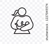 woman breastfeeding vector... | Shutterstock .eps vector #1227045574