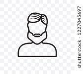 man face with beard vector... | Shutterstock .eps vector #1227045697