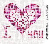 heart for wedding and valentine ... | Shutterstock .eps vector #122704609