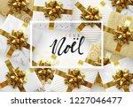 french text joyeux noel.... | Shutterstock .eps vector #1227046477