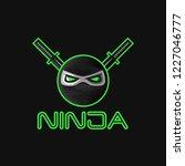 ninja superhero mask logo for a ...   Shutterstock .eps vector #1227046777