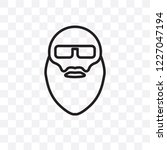 bald man face with beard and... | Shutterstock .eps vector #1227047194