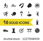 exercise icons set with the...