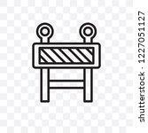 barrier vector linear icon... | Shutterstock .eps vector #1227051127
