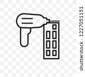 nail gun vector linear icon... | Shutterstock .eps vector #1227051151