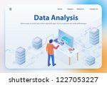 data analysis. big data... | Shutterstock .eps vector #1227053227