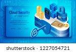 concept of cloud financial... | Shutterstock .eps vector #1227054721