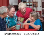 group of laughing seniors in a... | Shutterstock . vector #122705515