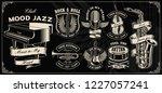set with vintage vector design... | Shutterstock .eps vector #1227057241