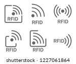 monochrome set of icons rfid.... | Shutterstock .eps vector #1227061864