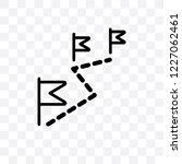 left chevron vector linear icon ... | Shutterstock .eps vector #1227062461