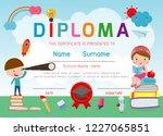 certificates kindergarten and... | Shutterstock .eps vector #1227065851