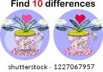 find differences teacup for... | Shutterstock .eps vector #1227067957