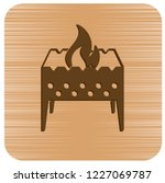 camping brazier icon. vector... | Shutterstock .eps vector #1227069787