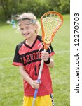 happy lacrosse player with her... | Shutterstock . vector #12270703