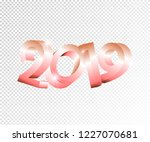 new year pink vector 3d numbers ... | Shutterstock .eps vector #1227070681