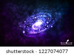 spiral galaxy on space... | Shutterstock .eps vector #1227074077