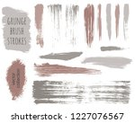 paint lines grunge collection.... | Shutterstock .eps vector #1227076567