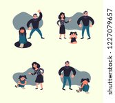 domestic violence concept.... | Shutterstock .eps vector #1227079657