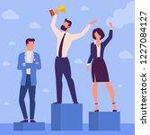 flat design illustration of... | Shutterstock .eps vector #1227084127