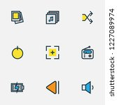 media icons colored line set... | Shutterstock .eps vector #1227089974