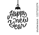 happy new year holiday card... | Shutterstock .eps vector #1227101374
