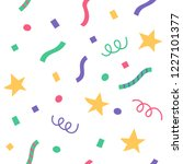 confetti and stars in a flat... | Shutterstock .eps vector #1227101377