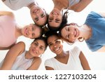 diverse group of sporty... | Shutterstock . vector #1227103204