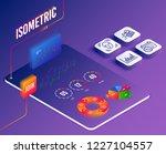 isometric vector. set of face...   Shutterstock .eps vector #1227104557