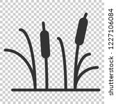 Reeds Grass Icon In Flat Style...