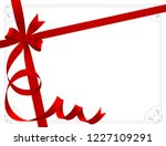red ribbon with the bow and... | Shutterstock .eps vector #1227109291