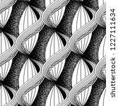 black and white abstract vector ... | Shutterstock .eps vector #1227111634