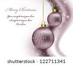 christmas background. vector... | Shutterstock .eps vector #122711341