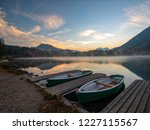 morning scenery with boats... | Shutterstock . vector #1227115567