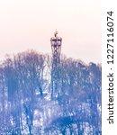 wooden and metal observation...   Shutterstock . vector #1227116074