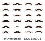 different mustache collection.... | Shutterstock .eps vector #1227130771