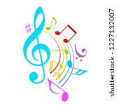 colorful music notes vector... | Shutterstock .eps vector #1227132007