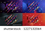 final sale and discounts...   Shutterstock .eps vector #1227132064