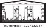 warehouse machinery equipment   ... | Shutterstock .eps vector #1227132367