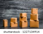 cardboard boxes are stacked...   Shutterstock . vector #1227134914