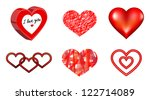 heart icon set | Shutterstock .eps vector #122714089