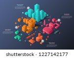 modern isometric or 3d location ... | Shutterstock .eps vector #1227142177
