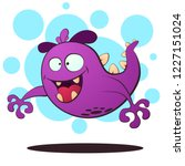 evil fly monster   cartoon... | Shutterstock .eps vector #1227151024