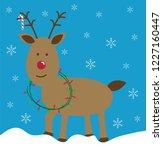 merry christmas reindeer | Shutterstock . vector #1227160447
