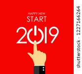 new year 2019 greeting card... | Shutterstock .eps vector #1227166264